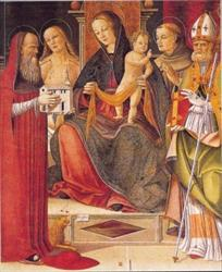 Madonna in trono con il Bambino tra i Santi Girolamo,Sebastiano,Francesco ed Agostino